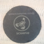 Personalised engraved slate cup coaster